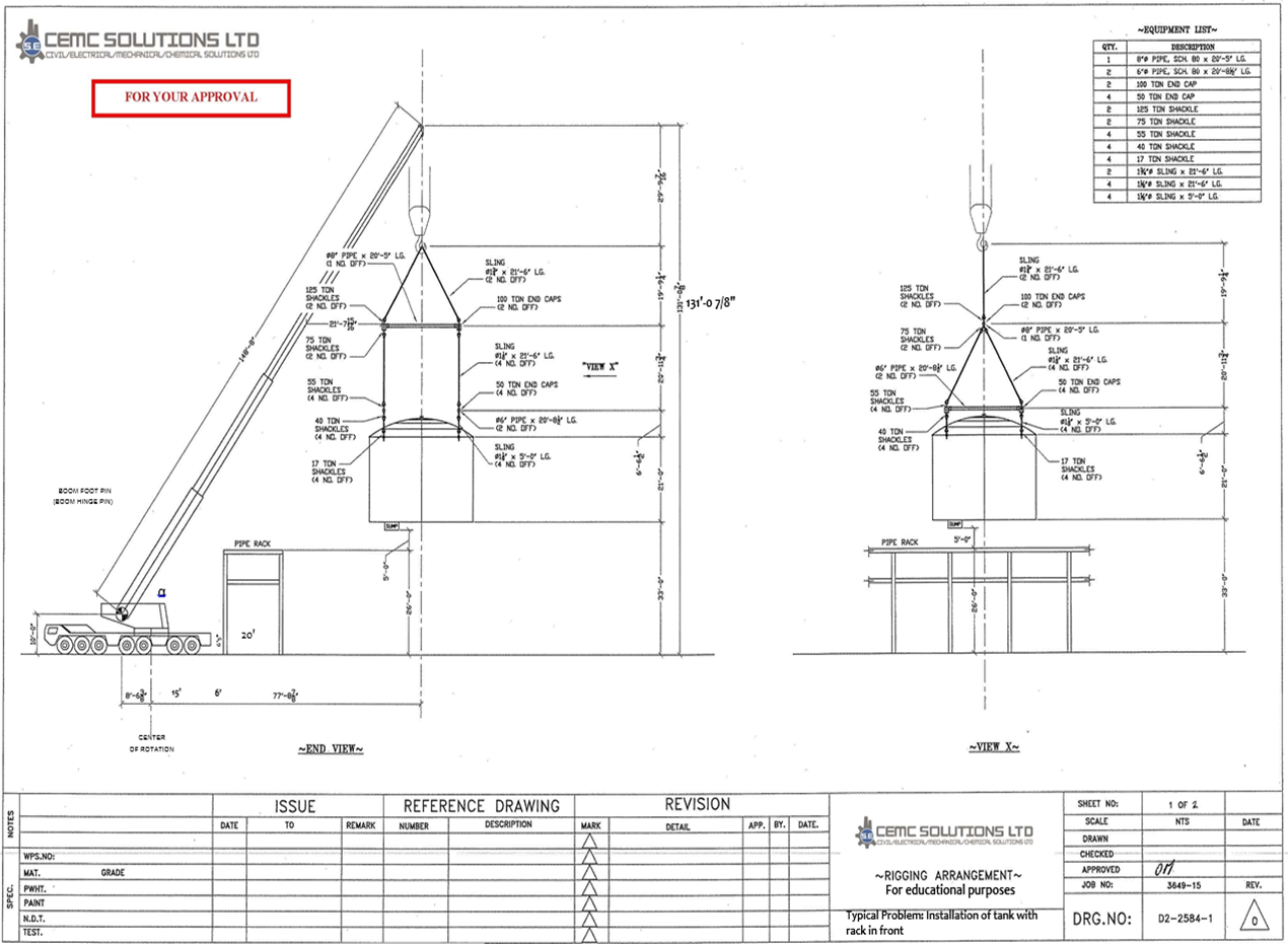 Can The Boom Of Crane Touch Structure In Front It Schematic Author